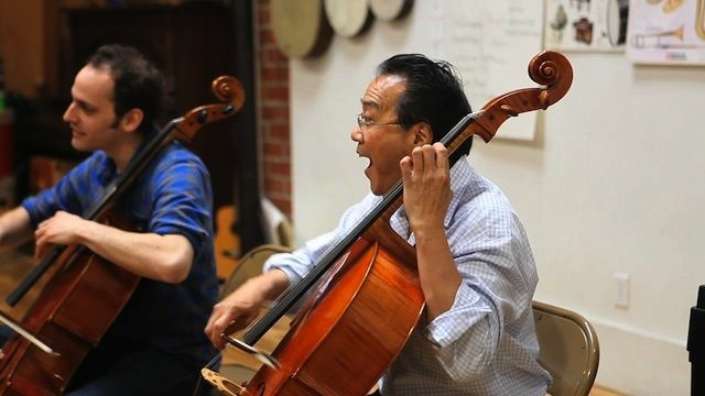 Cellist Yo-Yo Ma performs in Los Angeles. Tonight, the cellist will give a speech on arts education in Washington, D.C.