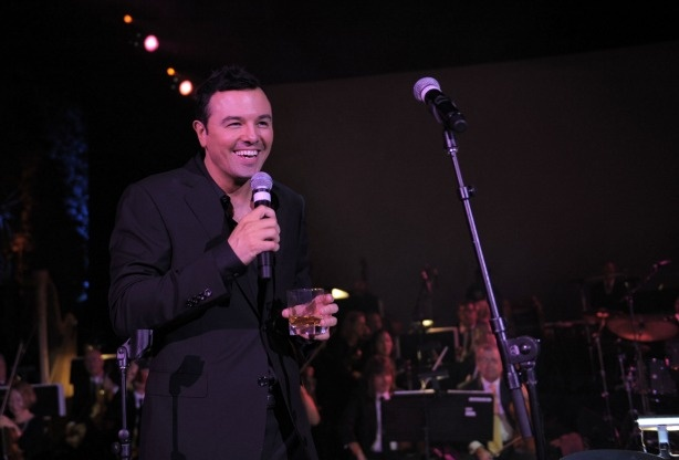 Seth MacFarlane performing in Beverly Hills.