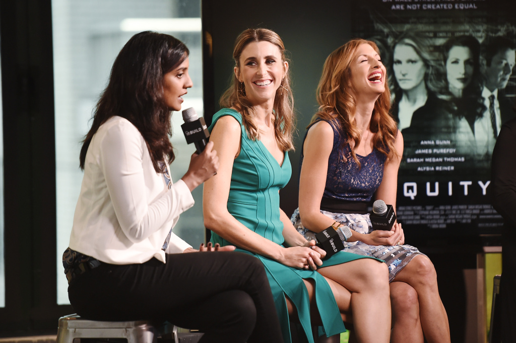 (L-R) Director Meera Menon, Sarah Megan Thomas and Alysia Reiner discussing the 2016 film,