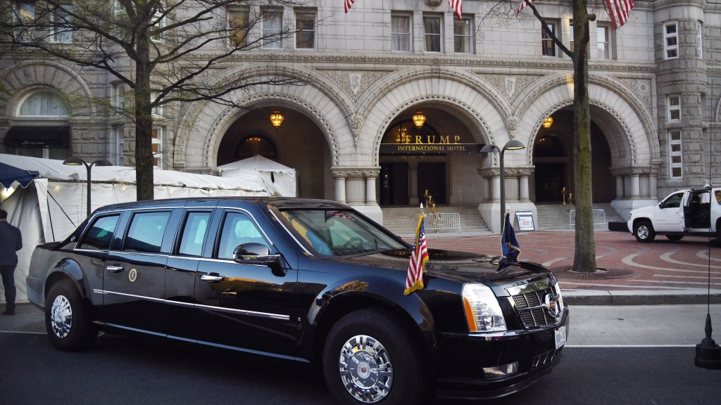 The presidential limousine, aka
