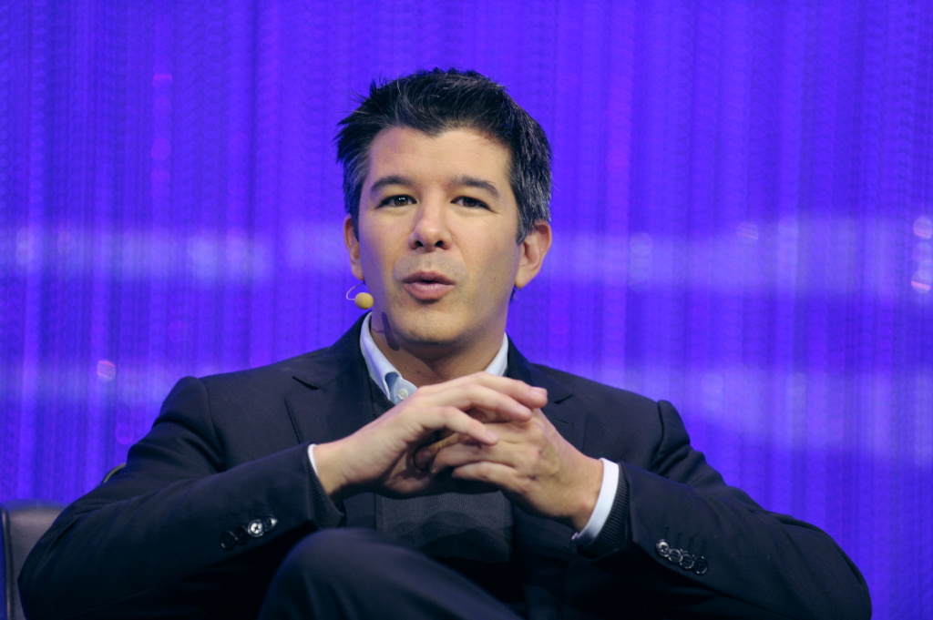 File: Travis Kalanick, Co-Founder and CEO of Uber, a mobile application connecting passengers with drivers of vehicles for hire, talks during a session of LeWeb 2013 event in Saint-Denis near Paris on December 10, 2013.