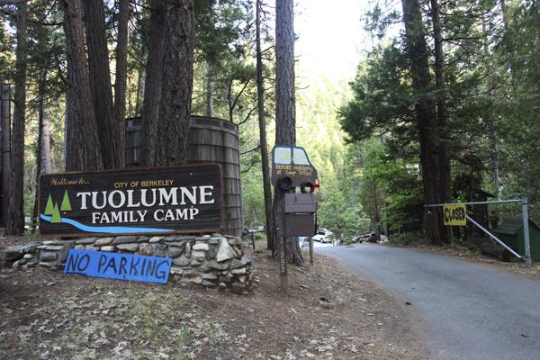 The entrance to Berkeley Tuolumne Family Camp in 2010.