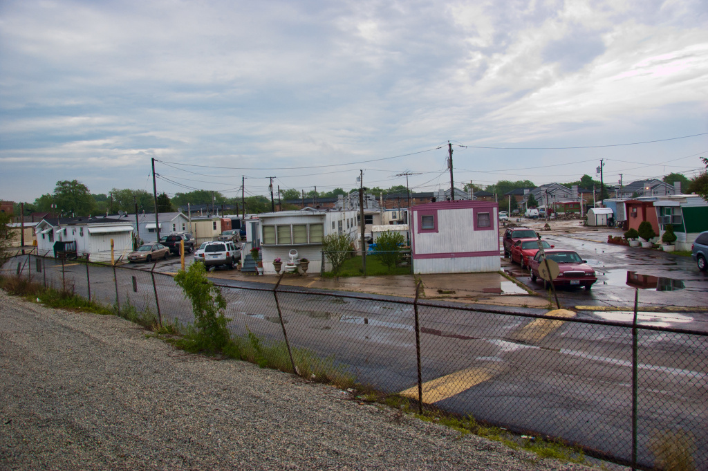 File photo: A row of mobile homes in Calumet Park, Illinois.