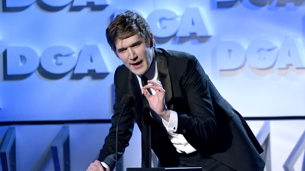 Bo Burnham, seen here accepting a DGA First-Time Feature Film Award for <em>Eighth Grade </em>in 2019, has a new special that places him in a much quieter space.