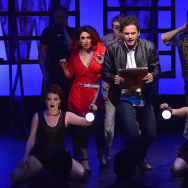 """Lesli Margherita (in red dress) and Wayne Wilcox (center) star in """"Matthew McConaughey vs. The Devil: An American Myth,"""" one of the productions at the 2017 New York Musical Festival."""