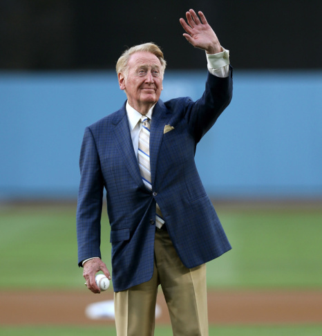 Legendary Dodgers broadcaster Vin Scully