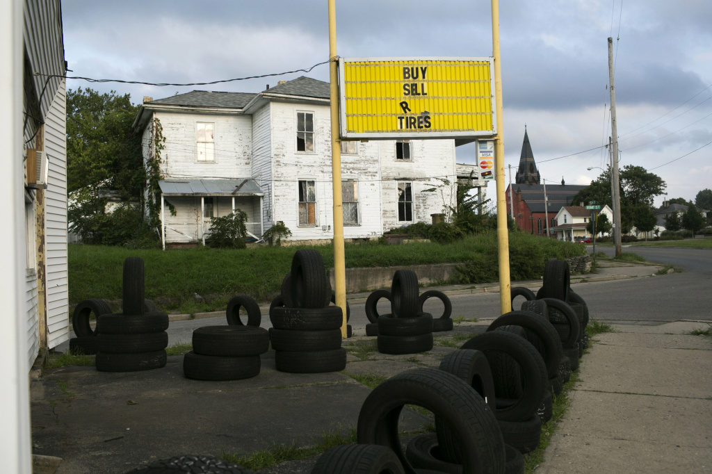A tire store on Selma Road in Springfield is near Many Pathways, an addiction recovery center. The center's Charles Rollins says it's in a