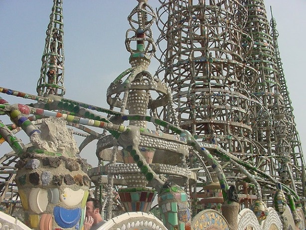The Watts Towers in Los Angeles.