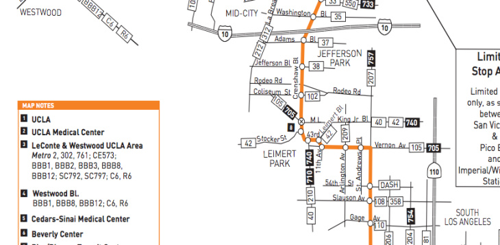 305 metro bus line schedule map
