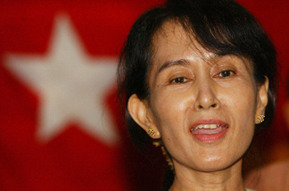 File photo of Myanmar democracy leader Aung San Suu Kyi, at a press conference after being freed from 19 months under house arrest on 06 May 2002.
