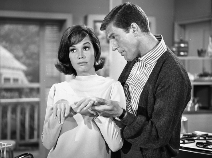 From 1961 to 1966, Moore played opposite Dick Van Dyke on The Dick Van Dyke Show. In 2011, Van Dyke told NPR he thought they had a bit of a crush on each other while filming the show.