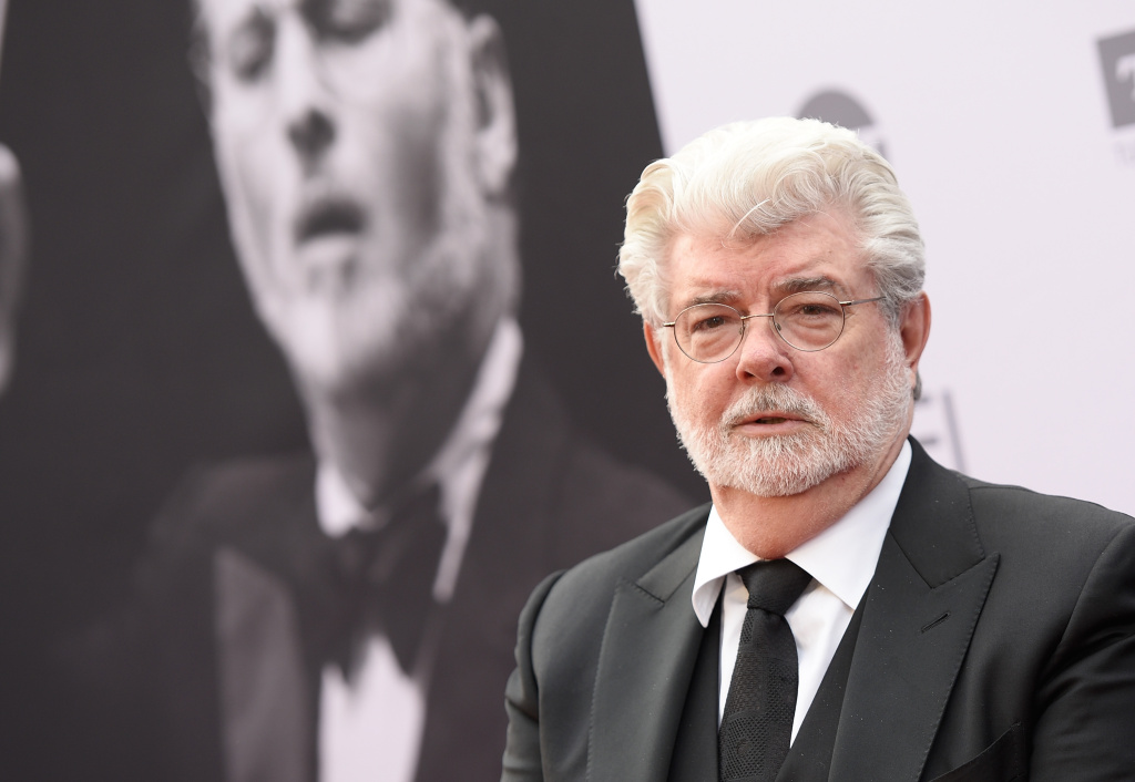 File: Filmmaker George Lucas arrives at the 2016 American Film Institute Life Achievement Awards Honoring John Williams, in Hollywood, California, on June 9, 2016.