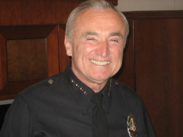 Bill Bratton on one of his final days as chief of the Los Angeles Police Department