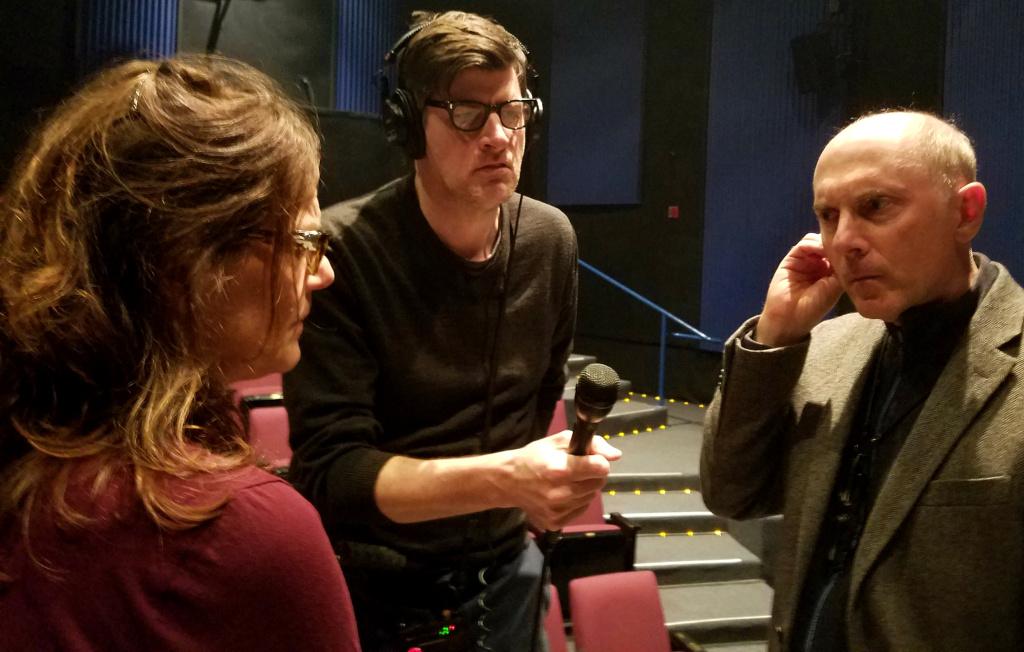 John Rabe records Deb Lacusta and Dan Castellaneta reading from Castellaneta's new play