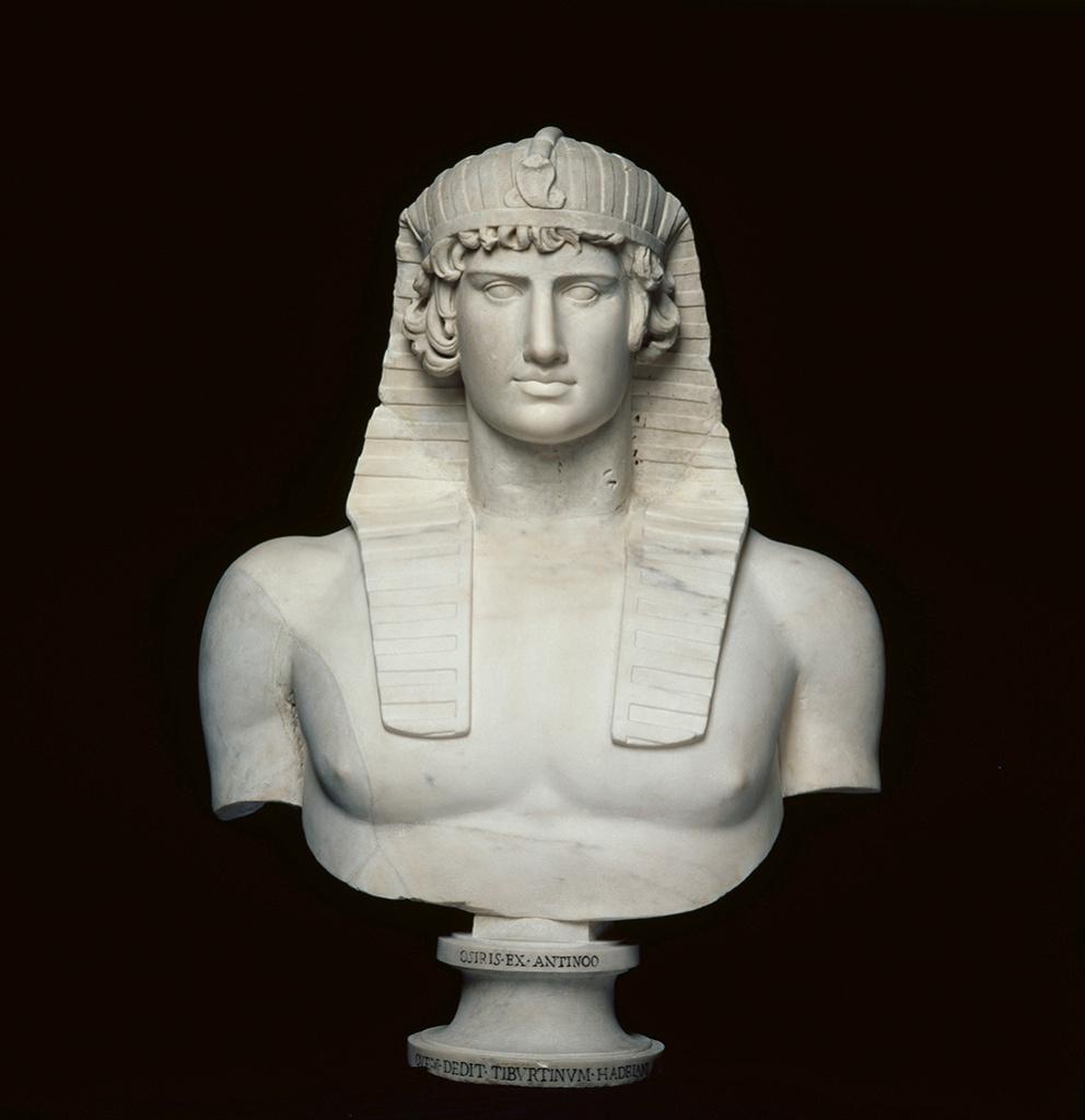 Bust of Antinous, Roman, AD 131–138; found in Hadrian's            Villa, Tivoli, Italy; marble. Musée du Louvre, Paris,            Département des Antiquités grecques, étrusques et romaines.
