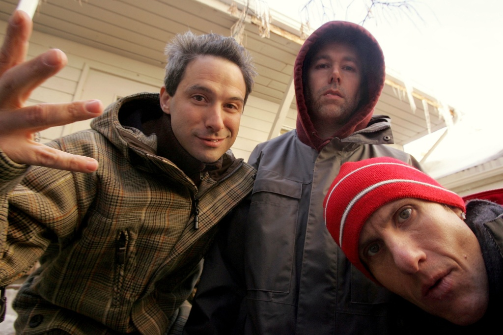 Beastie Boys at Sundance in 2006. Adam Yauch (center) died on May 4, 2012.