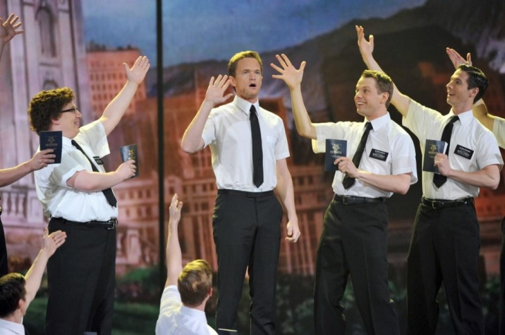 Andrew Rannells and the cast of 'The Book of Mormon' performs on stage during the 65th Annual Tony Awards at the Beacon Theatre on June 12, 2011 in New York City.
