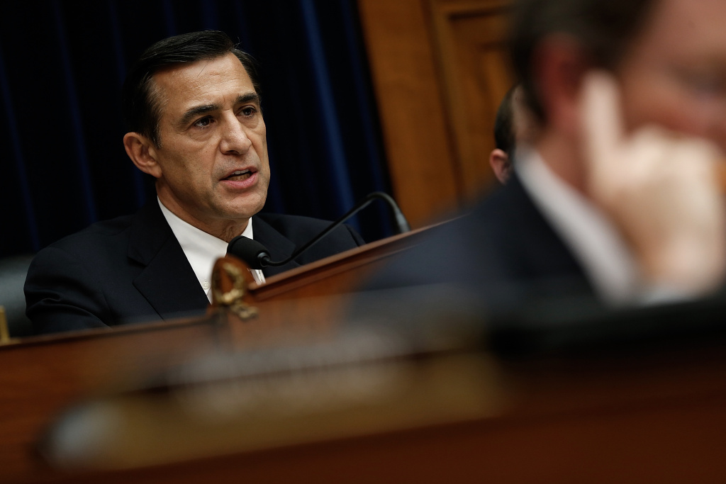 In this file photo, House Oversight and Government Reform Committee Chairman Darrell Issa (R-CA) speaks during the testimony of Internal Revenue Service Commissioner John Koskinen in June 2014 in Washington, DC. Issa talks confidently about the outcome of his re-election bid, but he's campaigning with an urgency that speaks to a competitive contest.