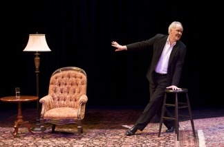 John Lithgow on stage at the Mark Taper Forum during a performance of his play, Stories by Heart