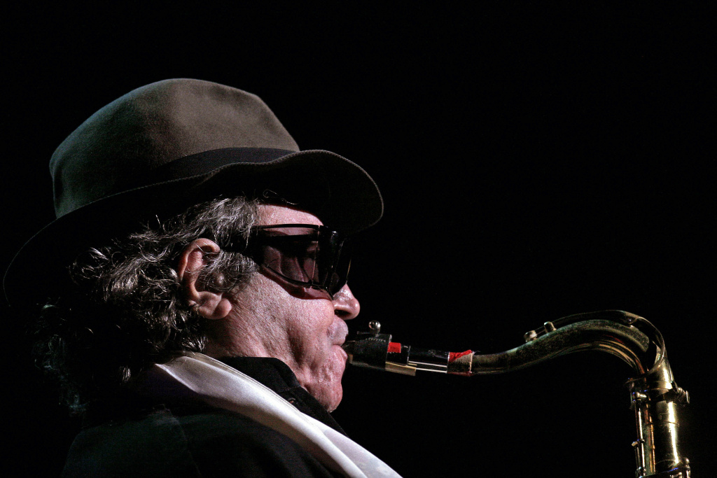 Argentinian tenor saxophonist Gato Barbieri is seen during his performance in Santo Domingo, Dominican Republic, in September 2006.