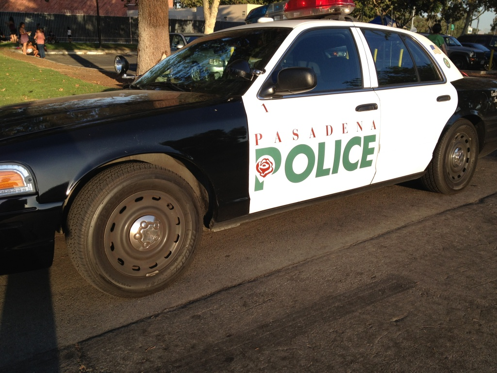 Pasadena Police Department car.