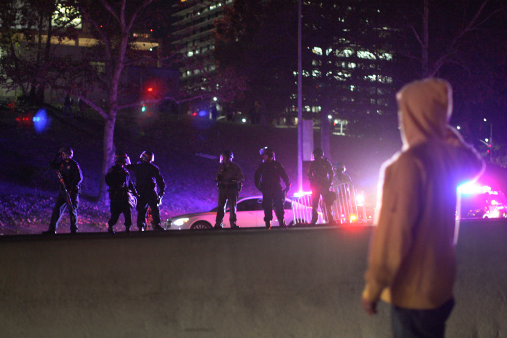 Protesters In LA React To Grand Jury Decision In Ferguson Case
