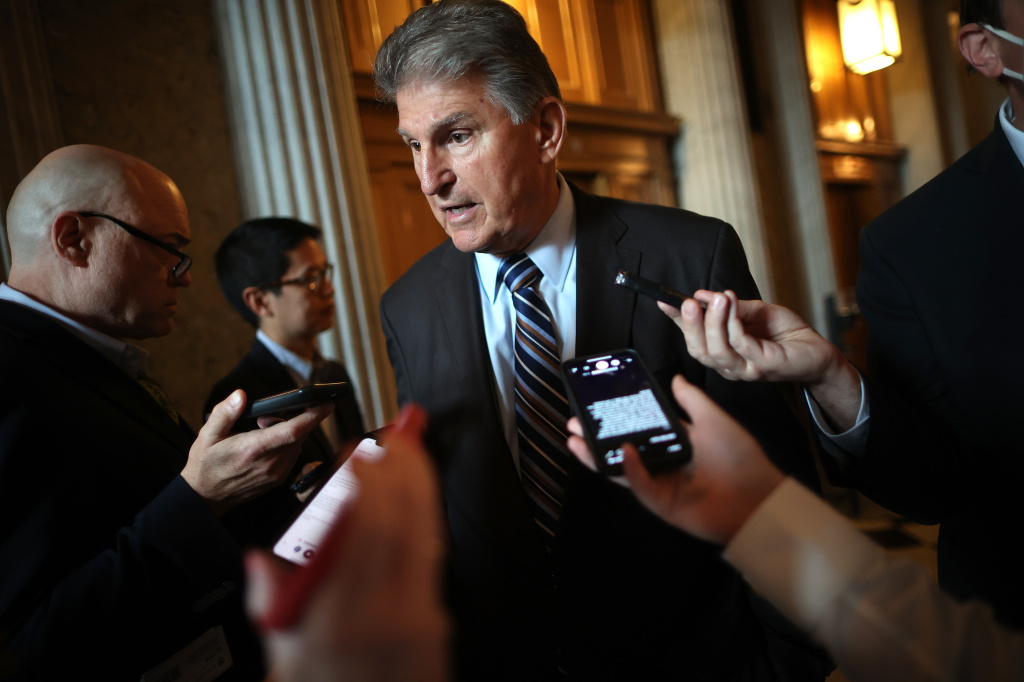 West Virginia Sen. Joe Manchin, seen here at the U.S. Capitol on May 28, has publicly said he will not support H.R.1, a sweeping set of voting rights measures.