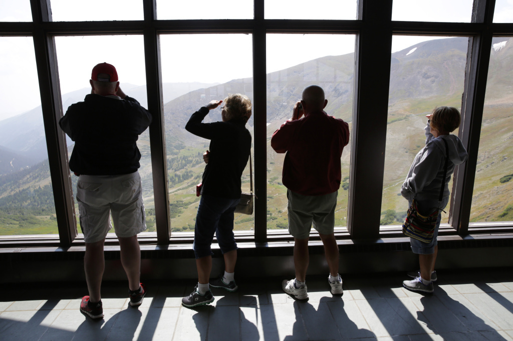 Admiring the view from the Alpine Visitor Center on Trail Ridge Road in Rocky Mountain National Park on Aug. 22.