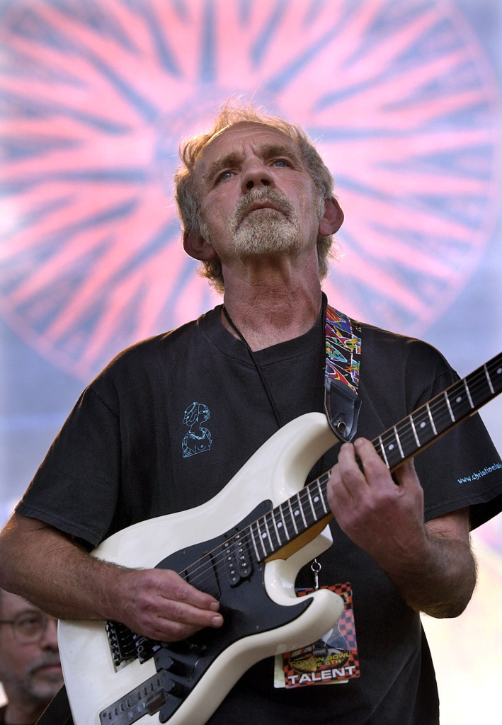 "In this June 5, 2004 file photo, singer-songwriter J.J. Cale plays during the Eric Clapton Crossroads Guitar Festival in Dallas, Texas. Cale, whose best-known songs became hits for Eric Clapton with ""After Midnight"" and Lynyrd Skynyrd with ""Call Me the Breeze,"" has died. He was 74."