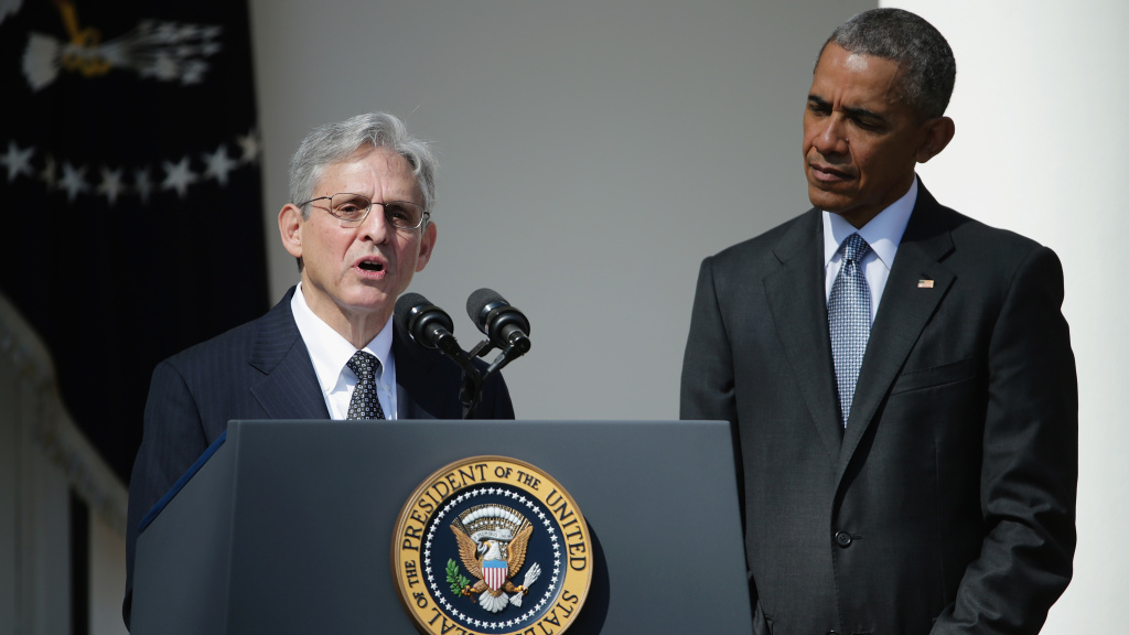 Merrick Garland was nominated to the Supreme Court by former President Barack Obama in March 2016. The Senate never voted on his nomination.