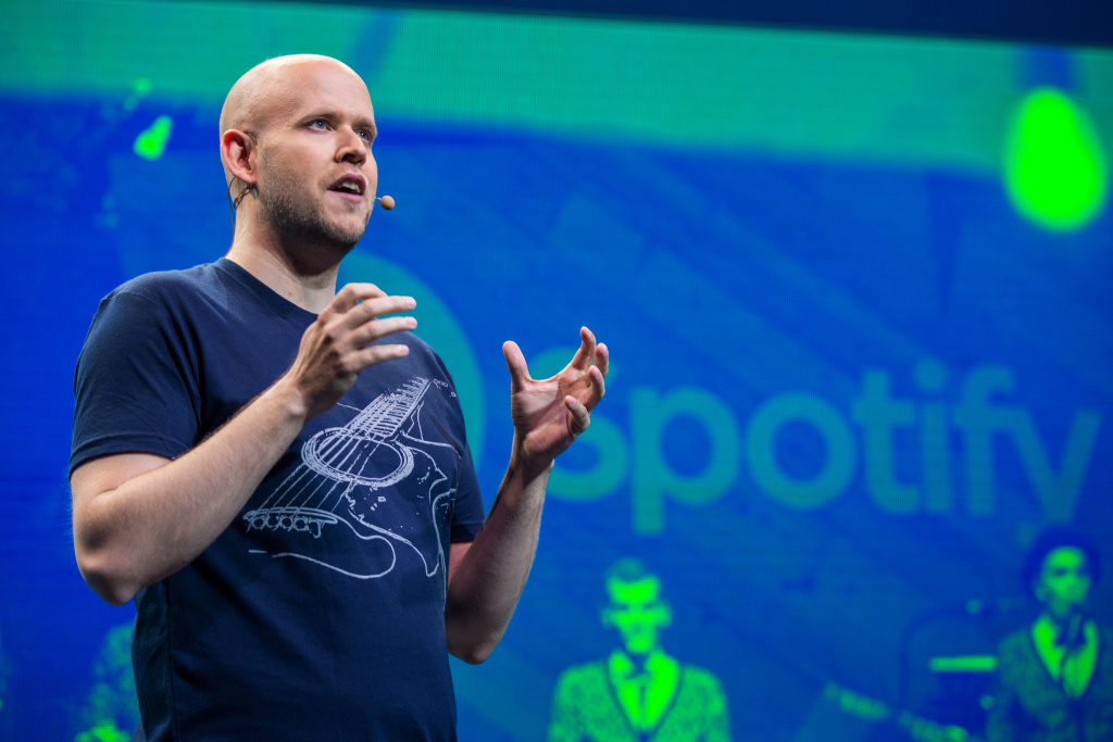 Daniel Ek is the CEO and founder of Spotify. The company remains the largest music streaming service and revenues are growing, but so are losses as the majority of its subscribers listen for free.