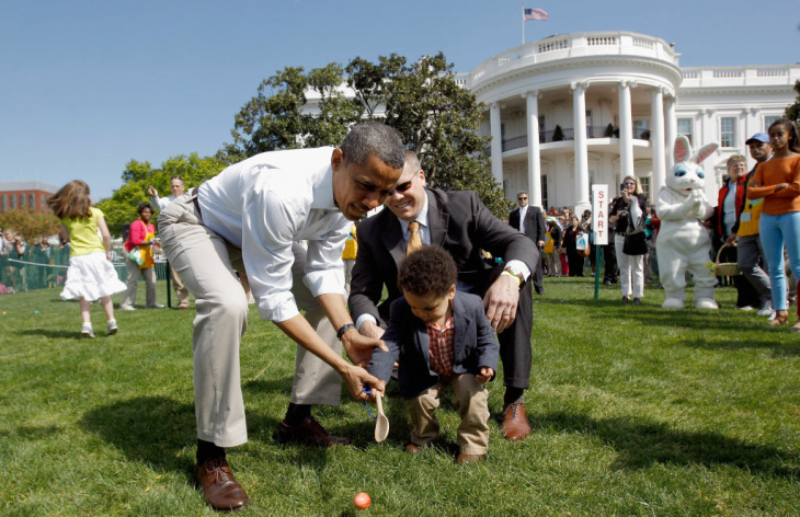 A business in Maine has been producing wooden eggs for the White House Easter Egg Roll for seven years. Every year, the logo is different. In 2012, the bunnies had hula-hoops.