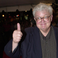 Film critic Roger Ebert gives his trademark thumbs