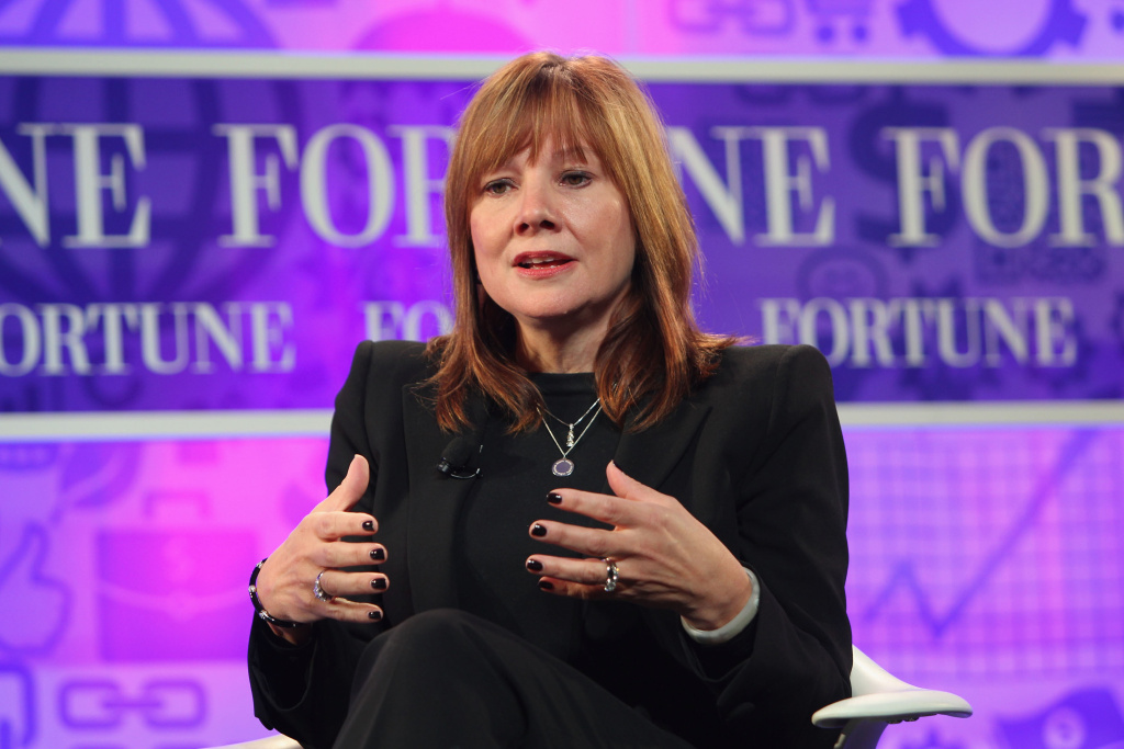 Mary Barra, who was just named the new CEO of General Motors, speaks onstage at the FORTUNE Most Powerful Women Summit on October 16, 2013 in Washington, DC.