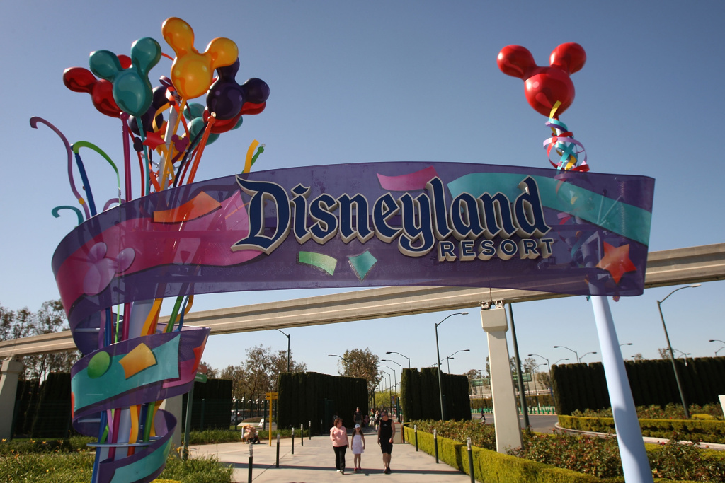 The entrance to Disneyland.