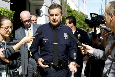 LAPD Chief Charlie Beck at Occupy LA