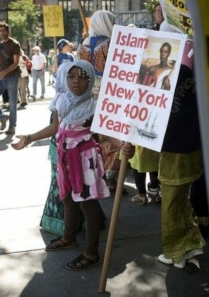A girl at a rally in New York, September 11, 2010