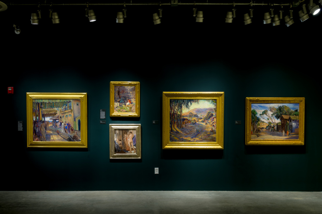 Installation view, The Golden Twenties: Portraits and Figure Paintings by Joseph Kleitsch, March 5–August 6, 2017, Pasadena Museum of California Art, photo © 2017 Don Milici