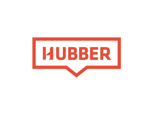 Logo for Hubber car-sharing service, now available at LAX.