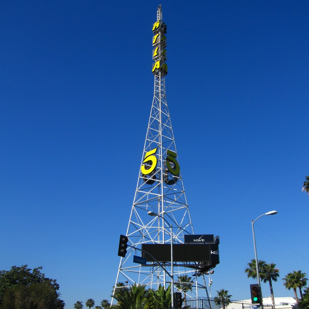 KTLA tower in Los Angeles.