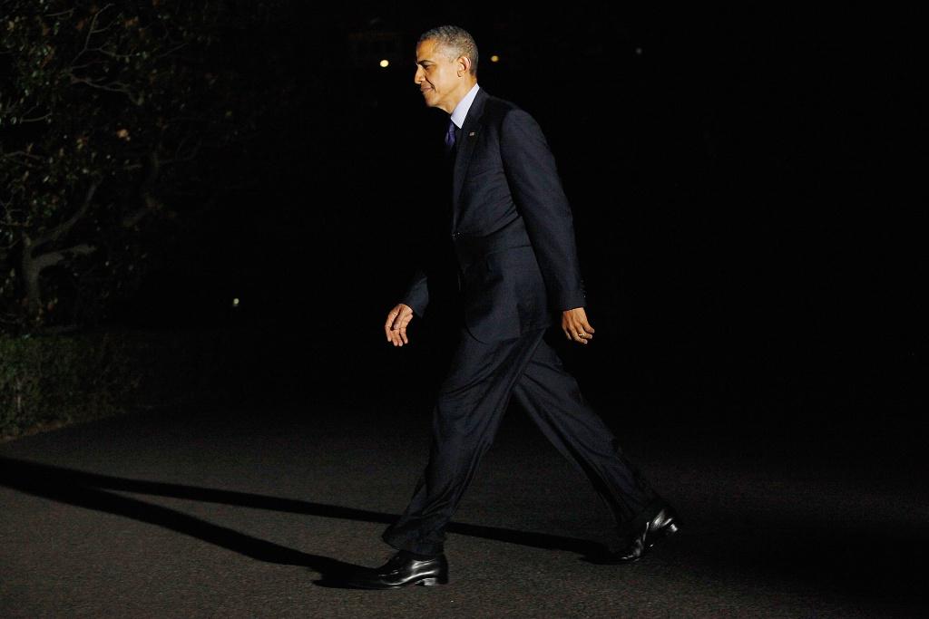 U.S. President Barack Obama returns to the White House on July 18, 2012 in Washington, D.C.