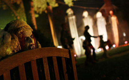 Not all neighborhoods are created equal, at least as far as trick or treating! If you know of a great place to take the tykes, share it with other KPCC listeners here. (Photo by Win McNamee/Getty Images)