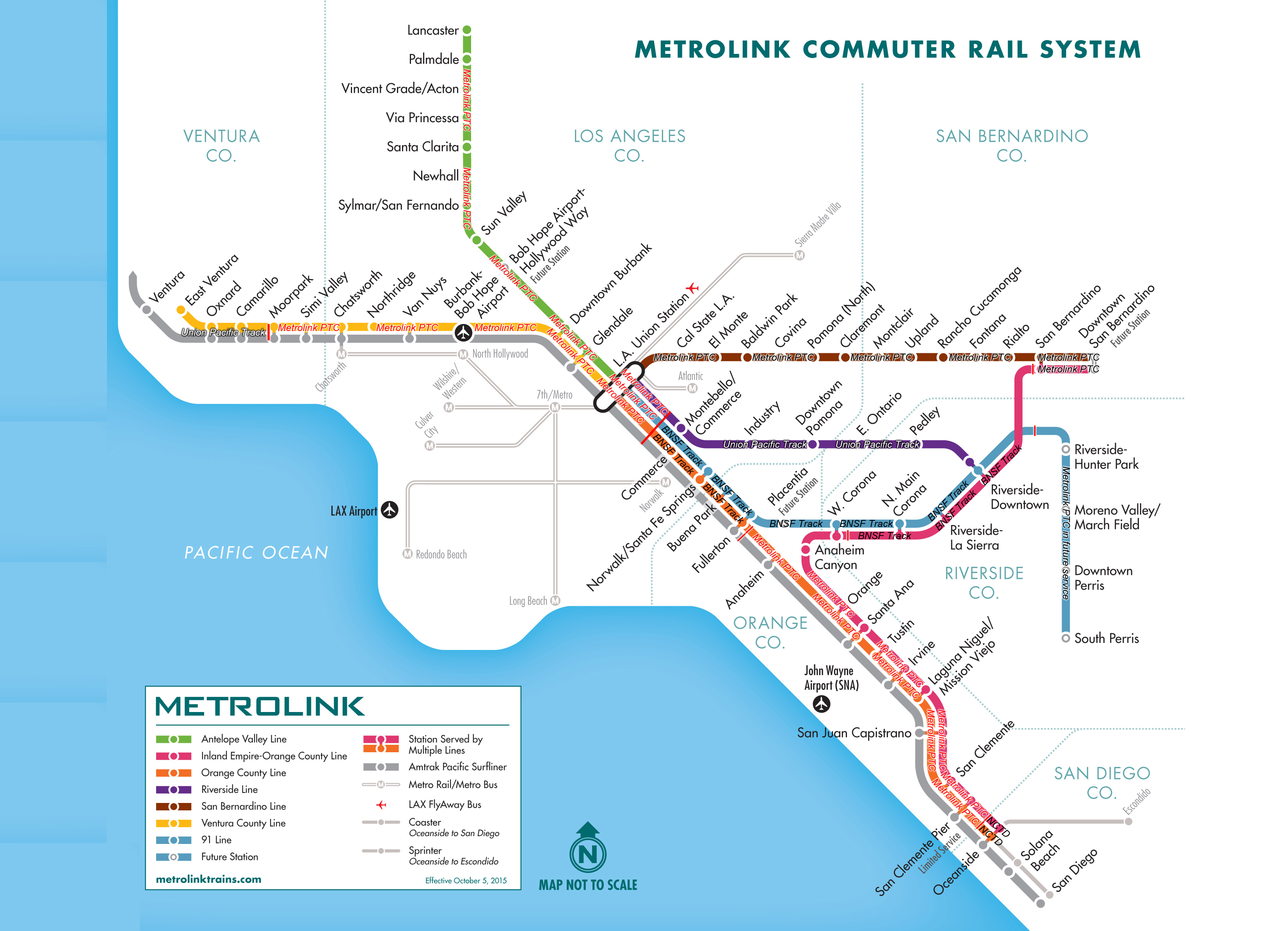 Map Some Metrolink Trains Still Lack Anticrash System  KPCC - Los angeles ventura map
